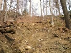 Landslide at Gorge Metro Park, Akron, OH