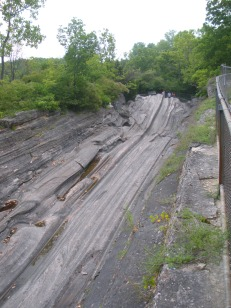 Glacial grooves, Kelly's Island, OH