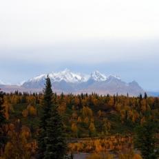 First glimpse of the Alaska Mountain Range