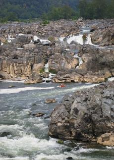 Kayaker at Great Falls, VA