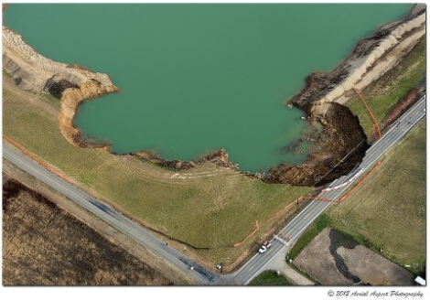 "Landslide in Dover, Ohio - Incorrectly described as ""sinkhole"" in news reports"