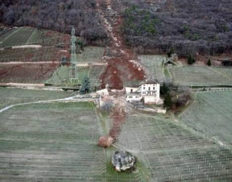 Rockfall in Tramin, Italy